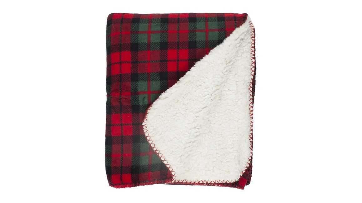 Unique Living Falun fleece plaid
