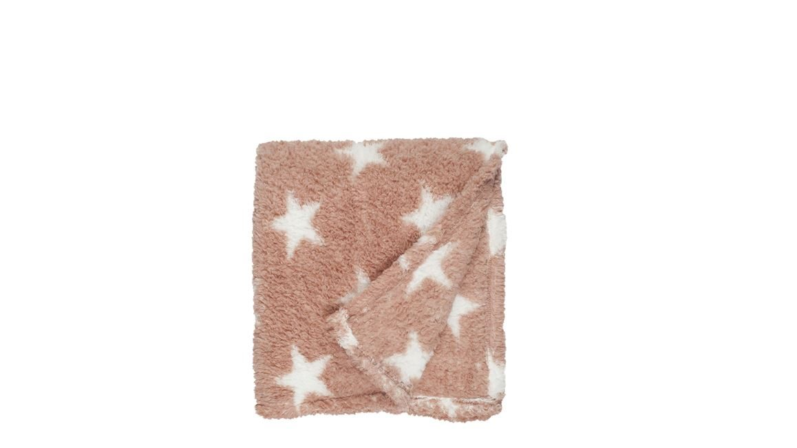 Unique Living Stars fleece plaid