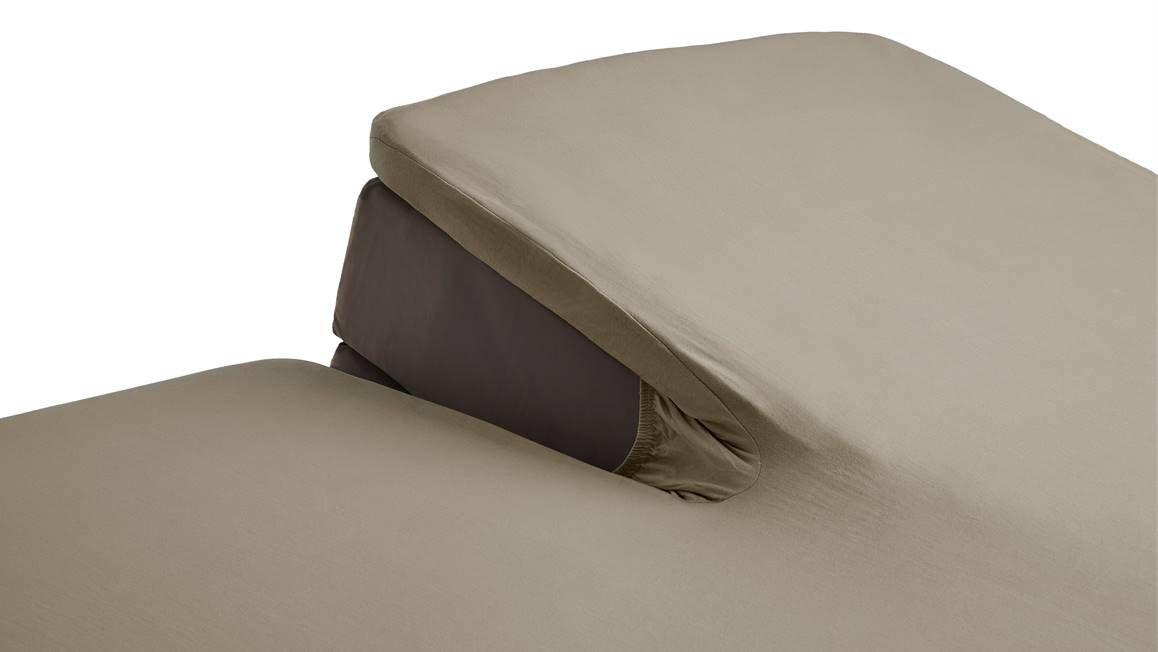 beddinghouse percale katoen split topper hoeslaken taupe. Black Bedroom Furniture Sets. Home Design Ideas