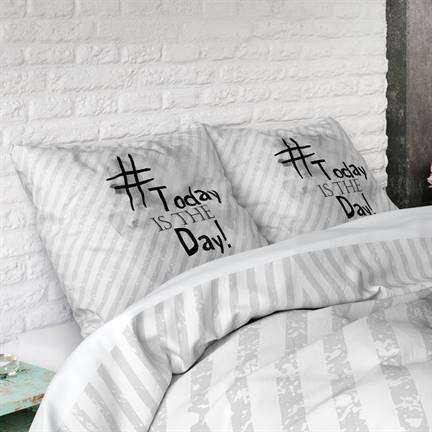 Dreamhouse Bedding Today Is The Day Dekbedovertrek Wit