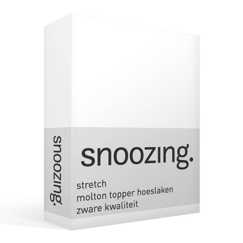 Snoozing stretch topper molton hoeslaken