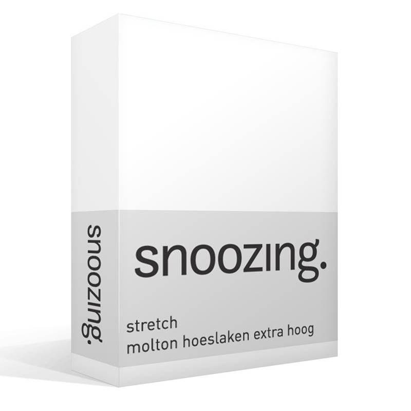 Snoozing stretch molton hoeslaken extra hoog