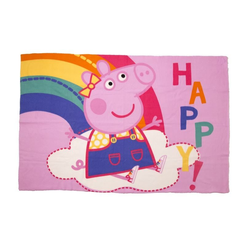 Peppa Pig fleece plaid