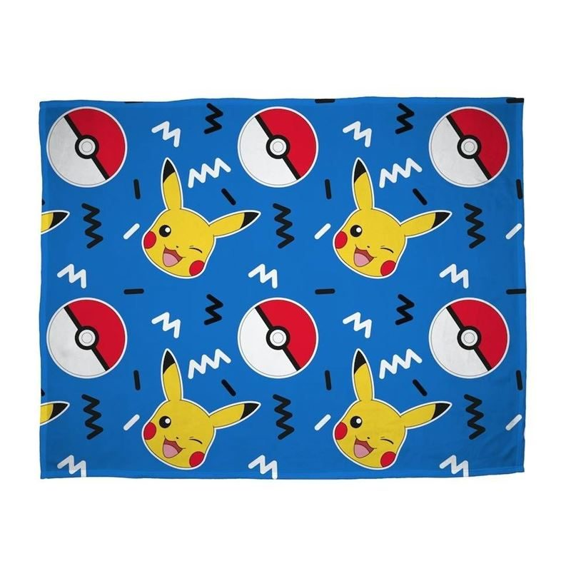 Pokemon fleece plaid