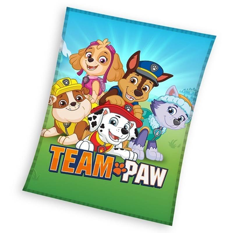 Paw Patrol fleece Plaid